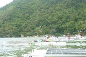 Largada da segunda parte da competição, saída da praia de Parati Mirim.