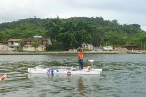 Barco da ETEHL-Náutica completa a prova do dia